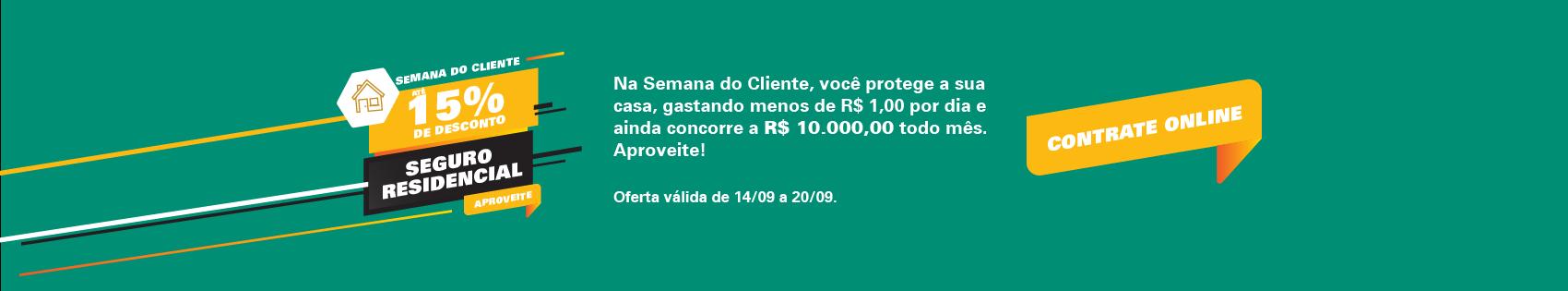 Proteja sua casa por menos de R$ 1,00 por dia!